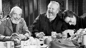 John Huston, Orson Welles y Peter Bogdanovich, en Al otro lado del viento