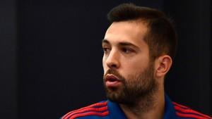Jordi Alba, en un entrenamiento de la selección española en Krasnodar.