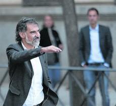 Jordi Cuixart, el pasado 6 de octubre, camino de la Audiencia Nacional para declarar.