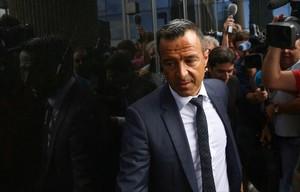 Jorge Mendes, a la entrada del juzgado de Pozuelo.