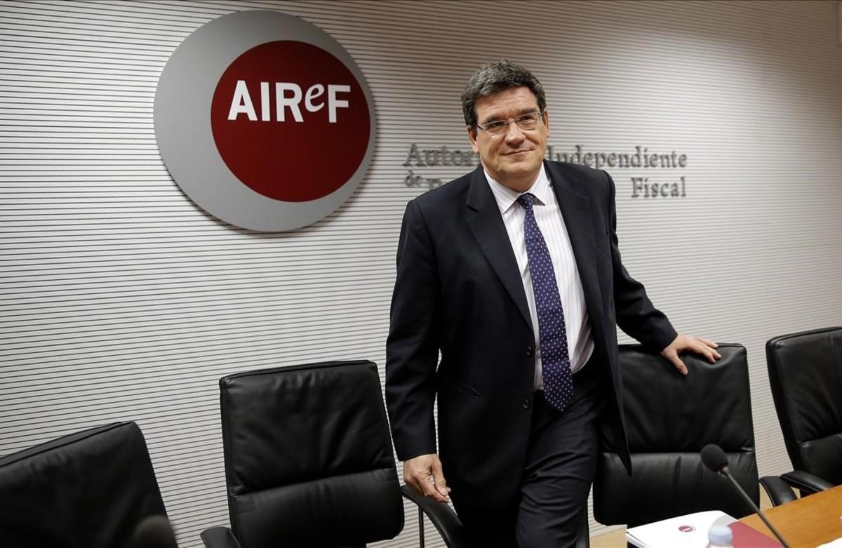El presidente de la Autoridad Fiscal, José Luis Escrivá, en una imagen de archivo.