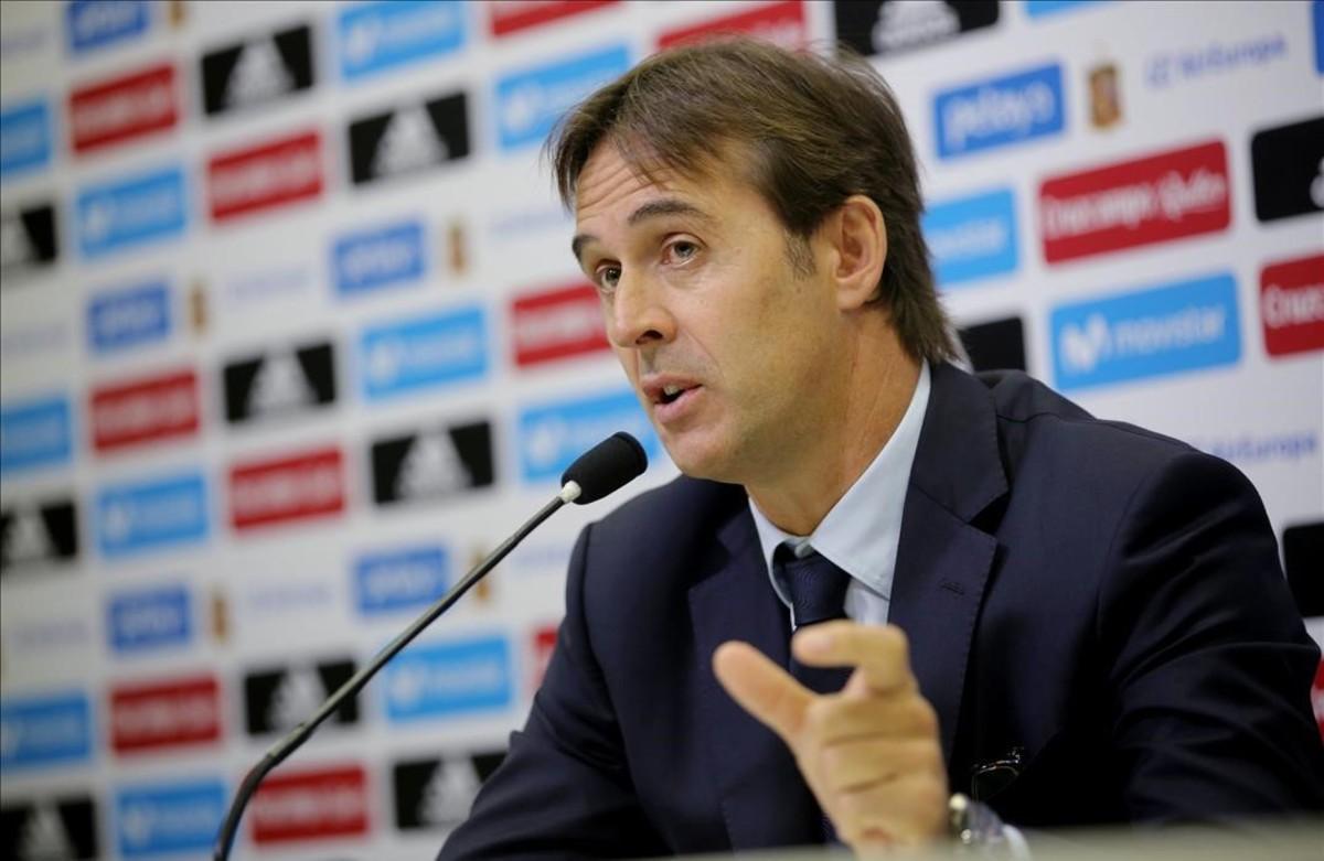 Julen Loptegeui, durante una rueda de prensa del pasado noviembre.