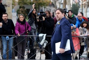 Junqueras, el 2 de noviembre, a su llegada a la Audiencia Nacional.