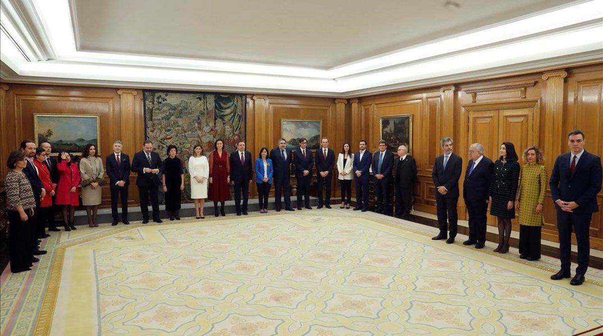 Jura de los ministros del nuevo Gobierno de Pedro Sánchez.