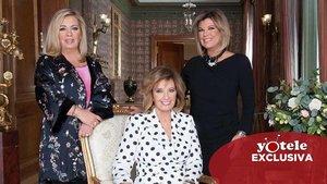 María Teresa Campos, Terelu y Carmen Borrego, invitadas estrella de Toñi Moreno para su estreno en Telemadrid