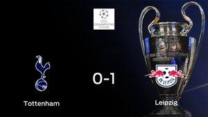 El RB Leipzig gana contra el Tottenham Hotspur el encuentro de ida de octavos de final (0-1)