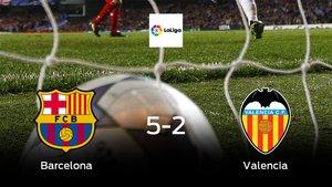 Los tres puntos se quedan en casa: goleada del Barcelona al Valencia (5-2)