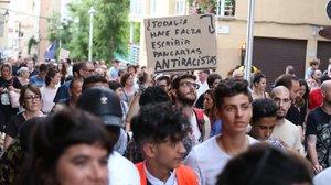 Manifestación antiracista en El Masnou.