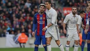 Duelo entre Messi y Cristiano Ronaldo, en diciembre del año 2016.
