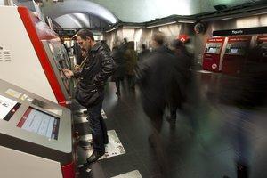 Estación del metro de plaza de Espanya de Barcelona.