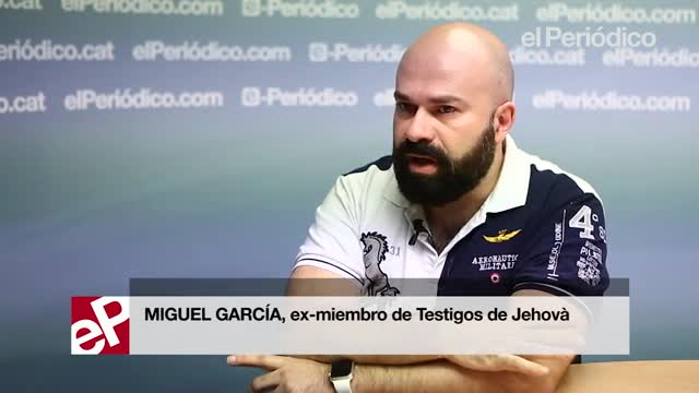 Miguel García explica su denuncia contra los Testigos de Jehová.