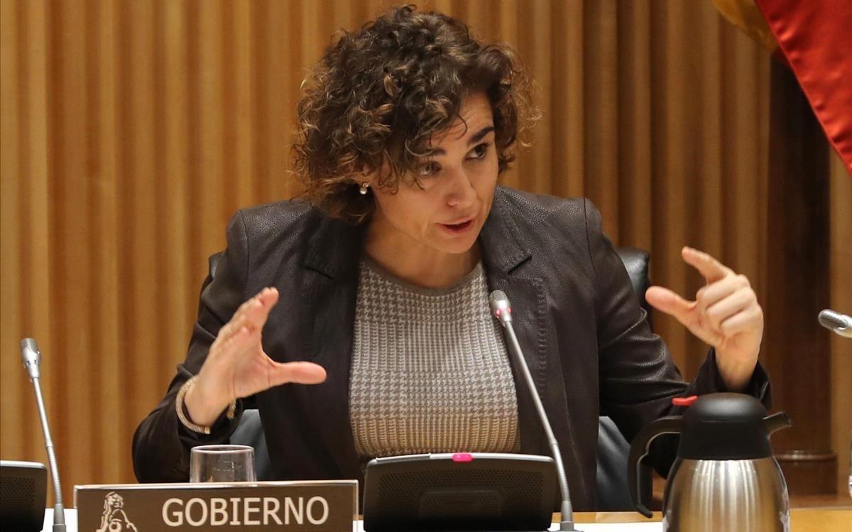 Dolors Monserrat interviene en la comisión de Igualdad del Congreso.