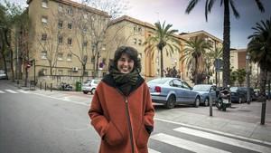 Mireia Valls, en la calle de las Chafarinas, en Trinitat Nova