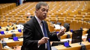 Nigel Farage en el Parlamento Europeo