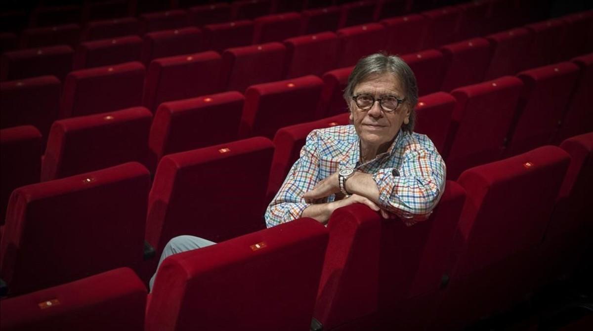 Josep Maria Flotats, en la platea del Teatre Borràs, en junio pasado.