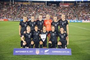Selección femenina de Nueva Zelanda.