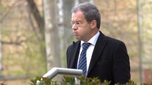 Pedro Comín, jefe delgrupo de los inspectores de Bankia en el 2011,antes de declarar en la Audiencia Nacional.