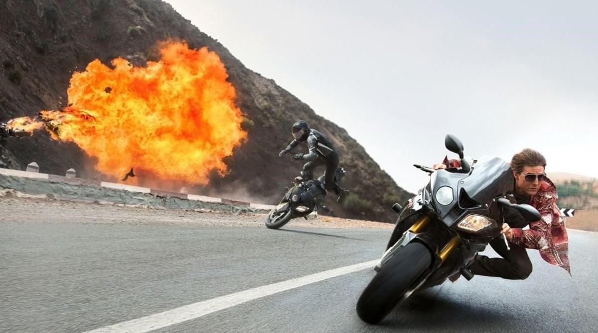 Espectacular escena de acción de la película Misión imposible: Nación secreta.