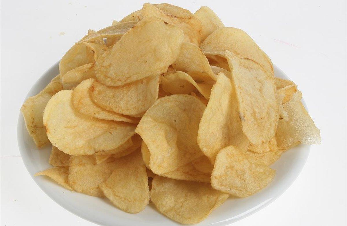 Plato de patatas fritas.