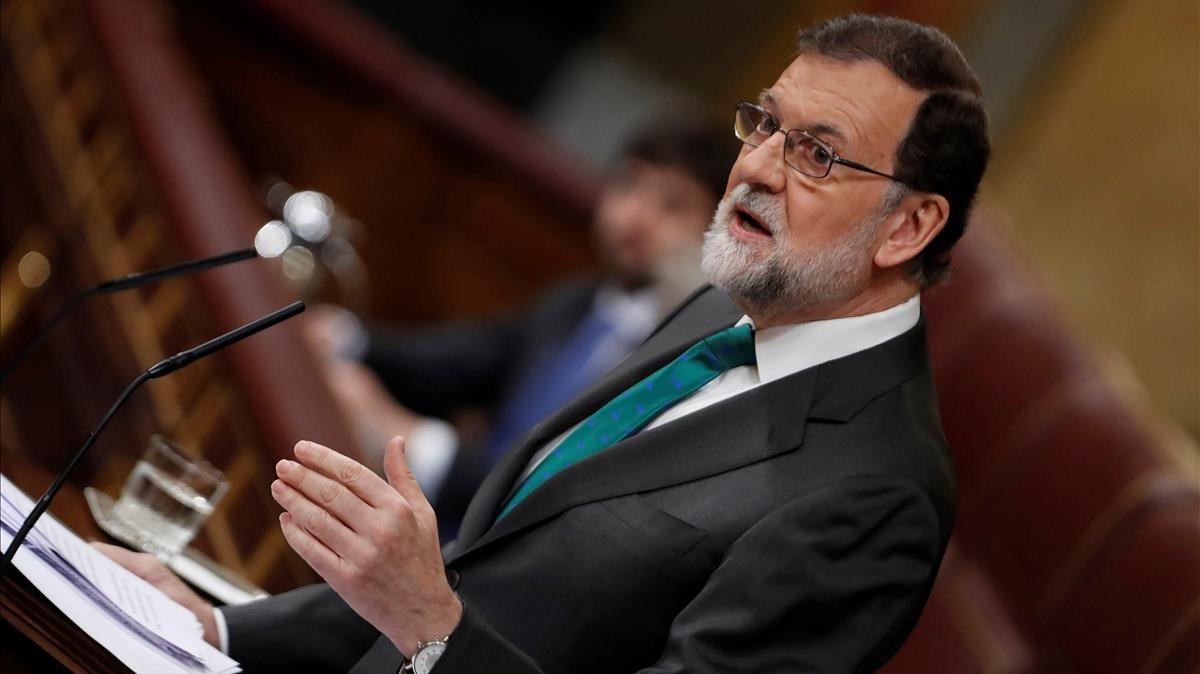 El presidente Rajoy durante su intervención esta mañana.