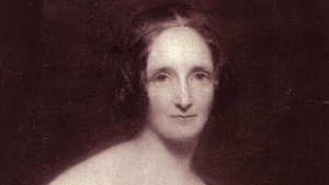 Retrato de Mary Shelley.