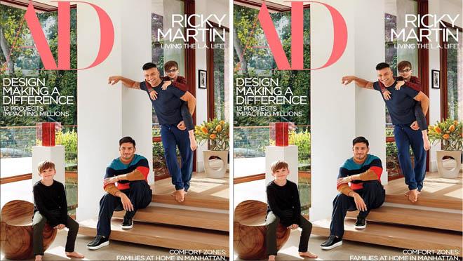 Ricky Martin enseña con su pareja su casa por primera vez.