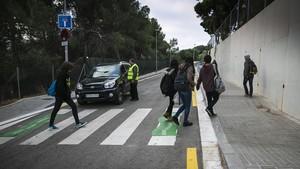 Un paso de peatones en Barcelona.