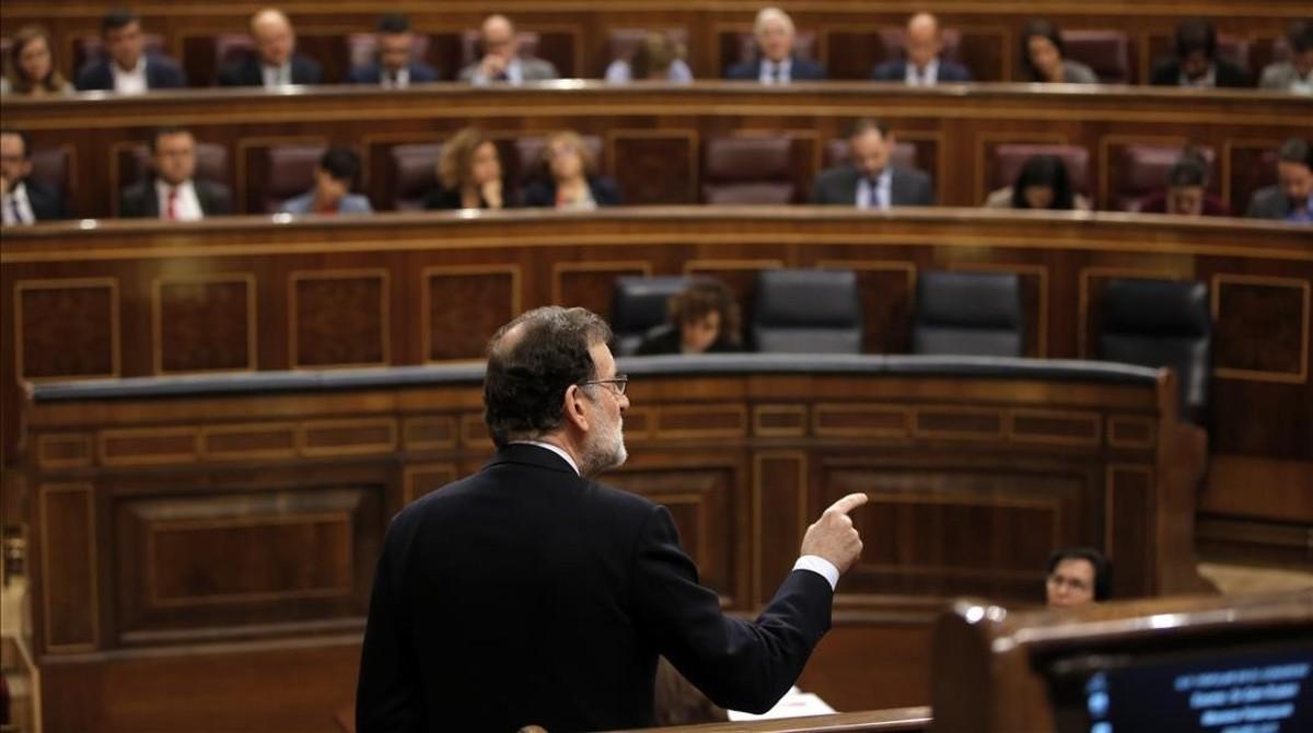 Mariano Rajoy, en la sesión de control del Congreso de este miércoles.