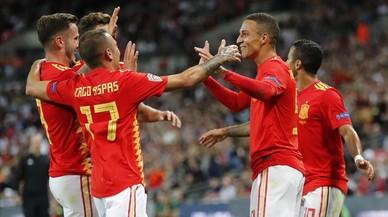 La nueva España de Luis Enrique remonta ante Inglaterra en Wembley