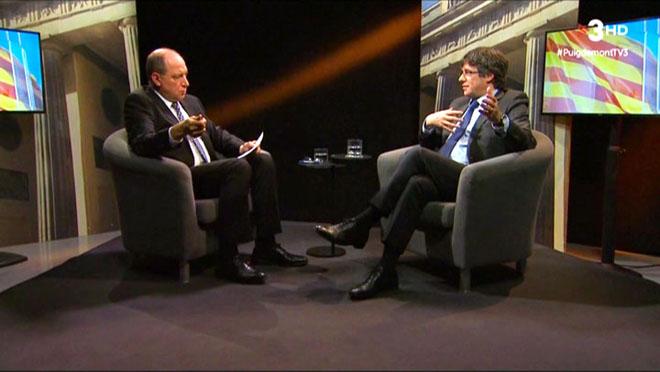 Vicent Sanchis entrevistó a Carles Puigdemont en Berlín.