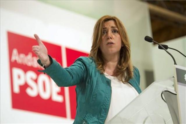 Susana Díaz, en elPalacio de Congresos de Granada.