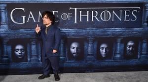 El actor Peter Dinklage, durante la el preestreno de la sexta temporada de Juego de tronos, en Los Ángeles.