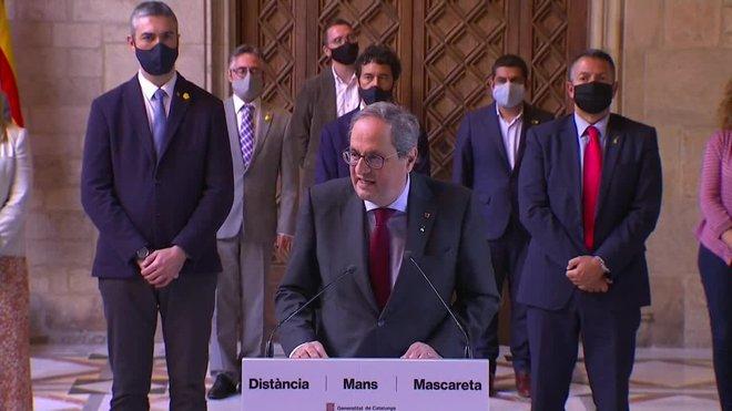 El presidente de la Generalitat inhabilitado, Quim Torra, ha apelado este lunes a las fuerzas independentistas a convertir las próximas elecciones catalanas en un nuevo plebiscito para confirmar el referéndum unilateral del 1 de octubre.