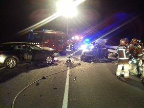 Mor un conductor en un xoc frontal a Cassà de la Selva (Girona)