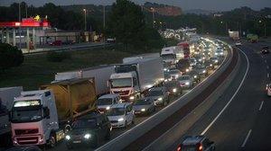 Tráfico en la AP-7 en sentido Tarragona.