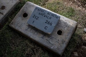Lugar donde fue enterrado el militar venezolano Rafael Acosta Arevalo.