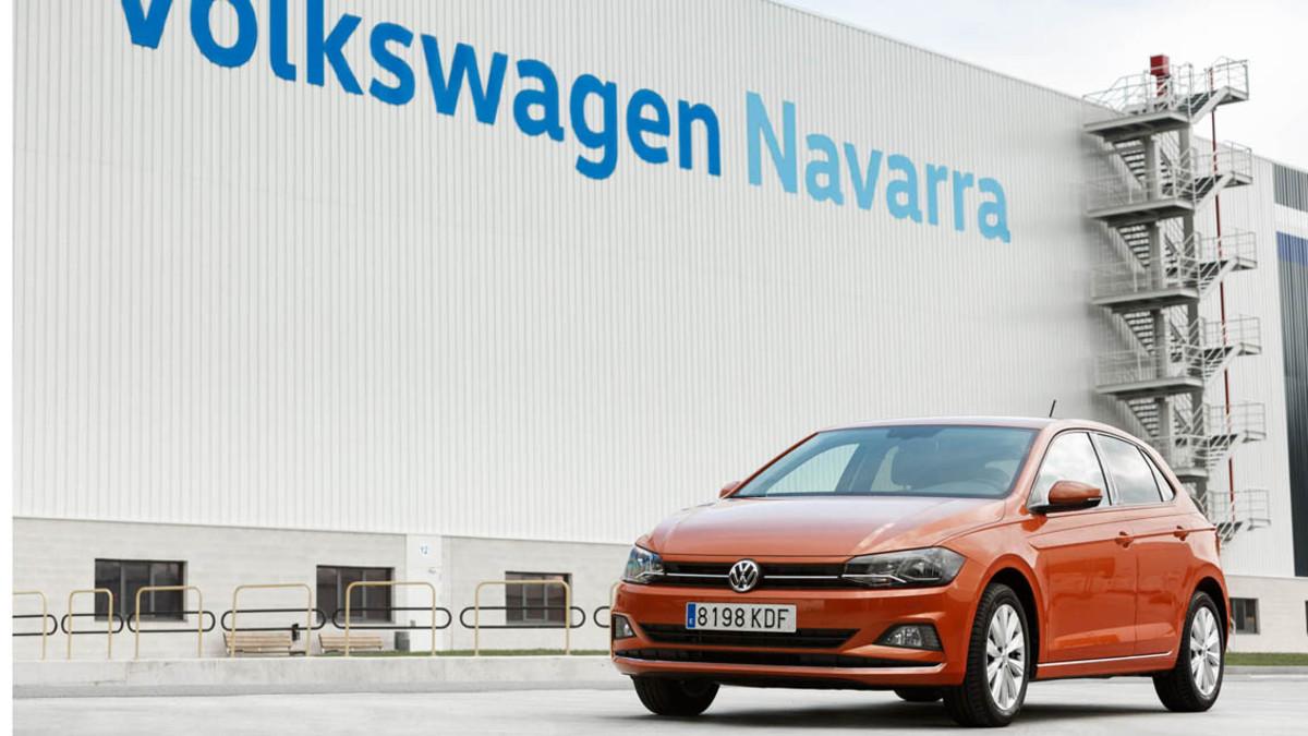 El nuevo Polo en la fábrica Volkswagen de Landaben en Navarra.
