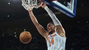 Willy Hernangómez, en una de sus últimas actuaciones en los Knicks.