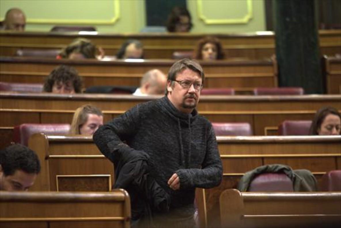 Xavier Domènech, en el pleno del Congreso del 15 de diciembre del 2016.