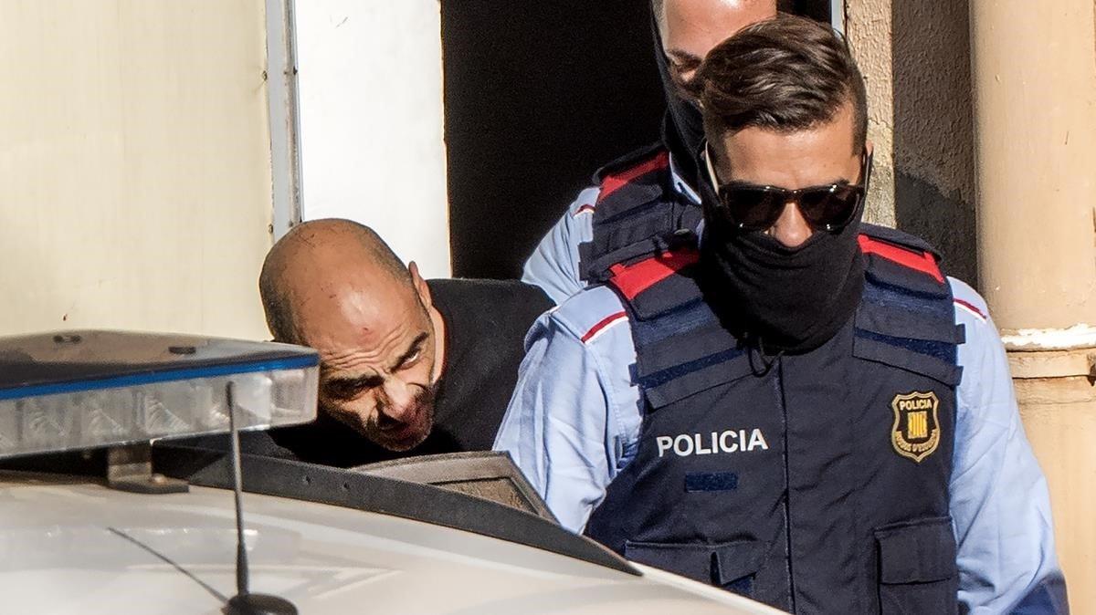 Tomas Pardo, tras ser detenido en octubre del 2016.