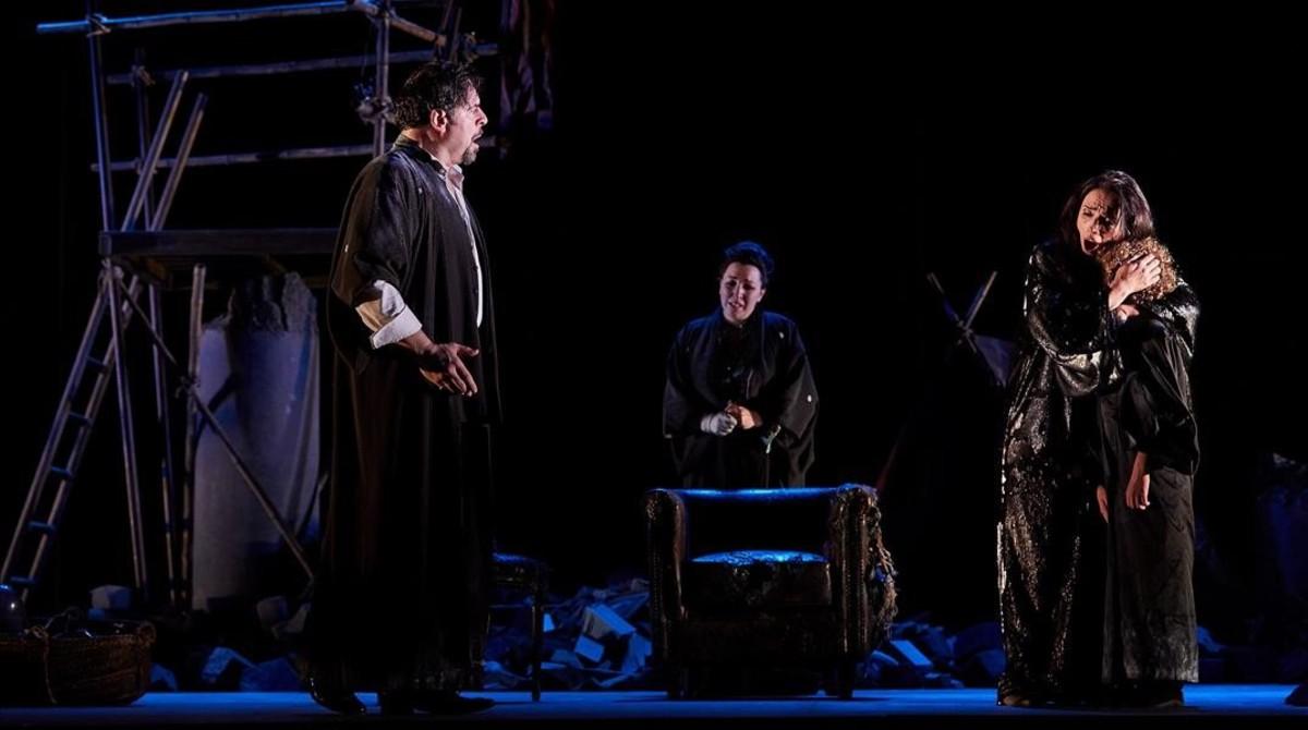 Uno de los momentos de la interpretación de Madama Butterfly, en Peralada.