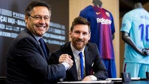 La renovación del contrato de Messi en noviembre del 2017.