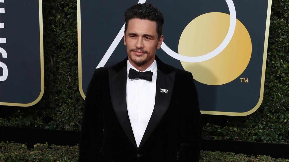 El actor James Franco en la 75 ediciónde los Globos de Oro en los Ángeles, el pasado domingo, 7 de enero