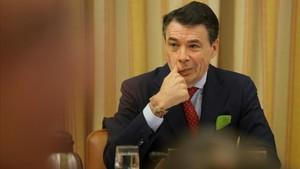 Ignacio Gonzalez expresidente de la Comunidad de Madriddurante la comision sobre la financiacion irregular del Partido Popularcelebrada en el Congreso de los Diputados