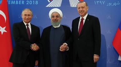 Putin, Erdogan y Rohaní chocan en la cumbre sobre la batalla de Idleb