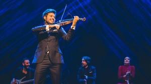El violinista corbobés en plena actuación en el Liceu.
