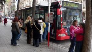 Parada de autobús en Tarragona.