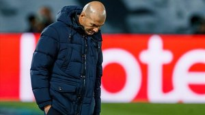 Zidane, ayer en Valdebebas.