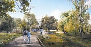 Maqueta de los jardines de la Casa Museu Mas Ravetllat-Pla de Guinardó, que estarán abiertos al barrio en otoño del 2019.