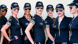 Un grupo de azafatas del Gran Premio de Abu Dabi de F-1.